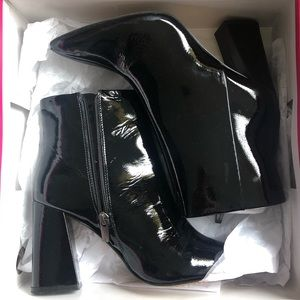 Vince Camuto Black Patent Leather Boots
